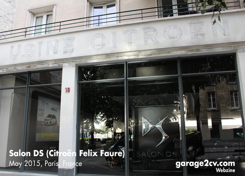 """Der alte """"Usine Citroën""""-Schriftzug ist im Mai 2015 dem brandneuen DS-Store gewichen. Foto: garage2cv."""