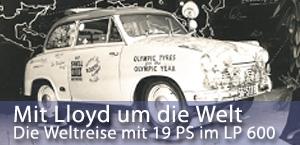 Die Weltreise mit 19 PS im Borgward-Kleinwagen Lloyd 600 - jetzt bei garage2cv.de