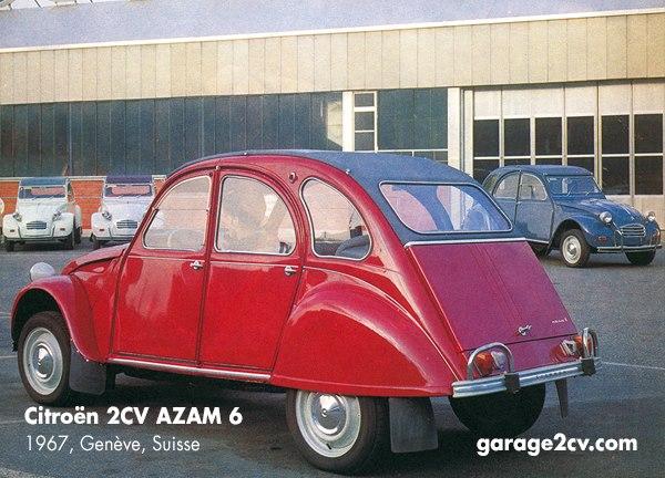 Der 2CV AZAM 6 geht auf Anregungen aus der Schweiz zurück und wird ausschliesslich im belgischen Werk Forest hergestellt. Er wird von 1966 bis 1968 in Deutschland, den Niederlanden und der Schweiz vertrieben, erst 1970 kommt mit dem 2CV6 der 600er-Motor auf internationale Märkte. Bild: Citroën/Archiv garage2cv