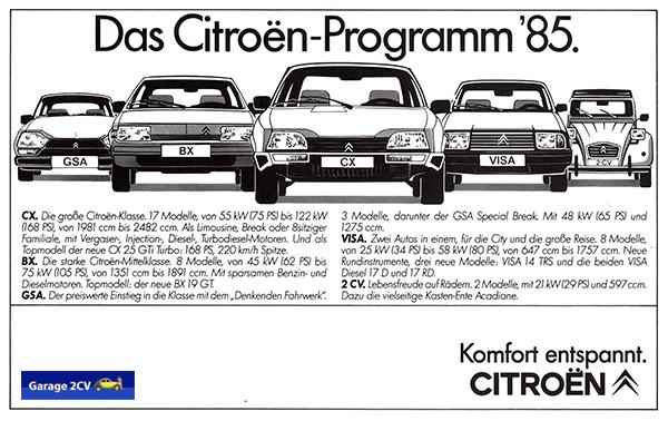 Erst mit dem 2CV-Ende 1990 ist das Citroën-Programm komplett auf Konzerntechnik umgestellt. Bild: Citroën / Archiv garage2cv.de