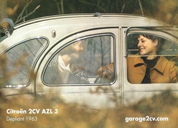 citroen 2cv foto 1 depliant  1963