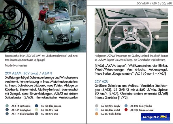 Die 1963 erscheinende Variante AZ AM (AZ ameliorée) gilt als eine der schönsten 2CV-Varianten, in Deutschland und der Schweiz ist sie ab 1965 sogar mit starkem 600er-Motor als 3CV erhältlich. Bild: Citroën 2CV KOMPAKT / garage2cv / 2014