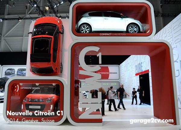 Kompakter geht es kaum: Neuer Citroën C1 auf Genfer Automobilsalon 2014. Bild: Citroën / Archiv garage2cv