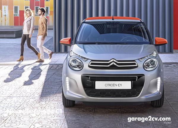Frontansicht des neuen Citroën C1 mit obligatorischem Tagfahrlicht. Bild: Citroën / Archiv garage2cv