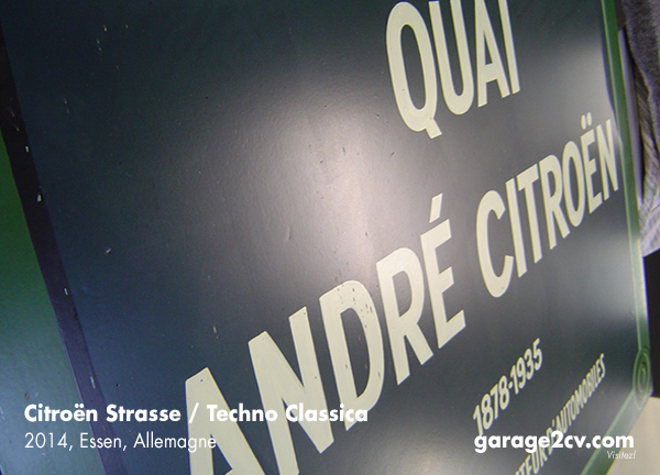 """Jährlicher Mittelpunkt der Essener Citroën-Strasse: Das Café am """"Quai André Citroën"""". Bild: Archiv garage 2cv"""