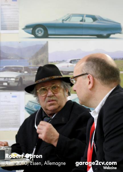 Der bekannte Automobildesigner Robert Opron (Citroën Ami8, SM, GS und CX) hat seinen Besuch auf Europas größter Oldtimermesse angekündigt. Bild: Archiv garage 2cv