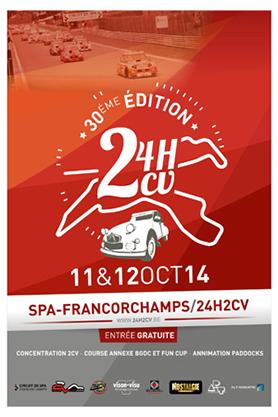 Die dreissigste Ausgabe der 24H2CV von Spa-Francorchamps/Belgien - Jetzt lesen bei garage2cv.de, das frankophile Oldtimermagazin