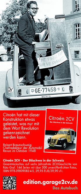 Citroën 2CV in der Schweiz -  Jetzt bei edition.garage2cv.de, die Citroën Bücher im Internet