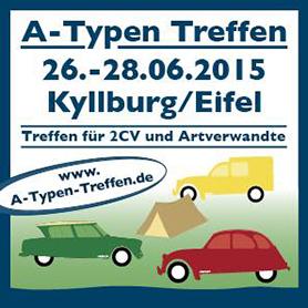 Das Citroën-Sommerevent 2015: Citroën A-Typen Treffen in Kyllburg 2015 -  Jetzt anmelden !