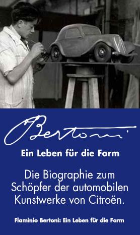 Citroën Design - Flaminio Bertoni: Ein Leben für die Form -  Demnächst bei edition.garage2cv.de, die Citroën Bücher im Internet