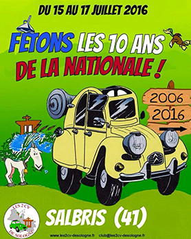 Citroën 2CV _Treffen 2016 in Salbris/Frankreich