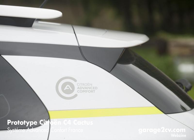 "Schriftzug ""Citroën Advanced Comfort"" an einem C4 Cactus Prototyp. Bild: Citroën"