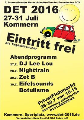 DET2016: Das 7. internationale Deutschlandtreffen für Freunde des Citroën 2CV in Kommern