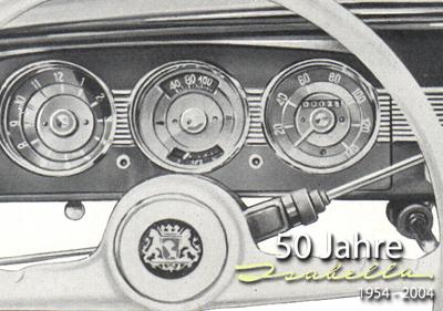 Armaturenbrett der ersten Isabella von 1954 - 1957.