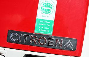 Diese 2CV-ente besuchte den Umwelttag 1986 in Würzburg. Gesehen auf dem ACC-Treffen in Speyer 2011