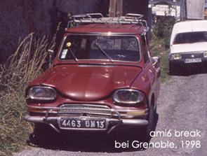 ami6 break bei Gap, 1998. Bild:garage2cv 2003