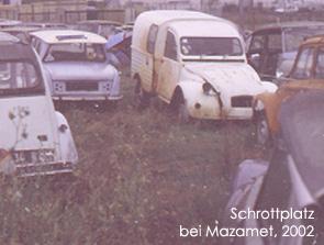Schrottplatz 2002 Bild: garage2cv 2003