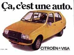 Ca, c´est une auto! Citroën VISA