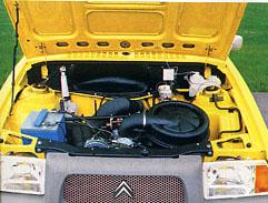 Unter der Haube des VISA verbarg sich bekannte Citroën-Technik. Bild: Citroën 1979