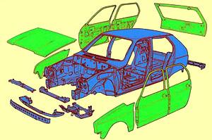Erstmals ohne Plattformrahmen: Neuer Kleinwagen Citroën VISA. Bild: Citroën Communication/Garage 2CV 2001