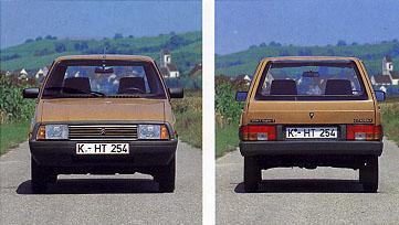 Ansichten des überarbeiteten Citroën VISA. Bild: Citroën.