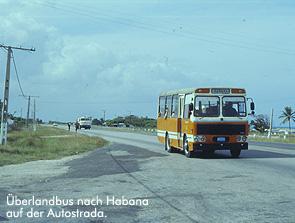 Bus nach Habana auf der Autostrada / Bild: Archiv garage2cv/Eggermann