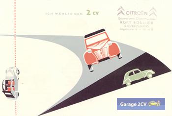 """Ich wählte den 2CV - Aus """"Voilà Monpti - Citroën 2CV Werbung in Deutschland"""""""