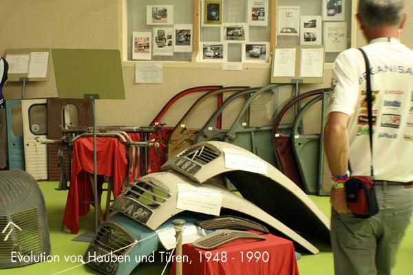 2CV-Blechteile aus unterschiedlichen Produktionsjahren - garage2cv.de