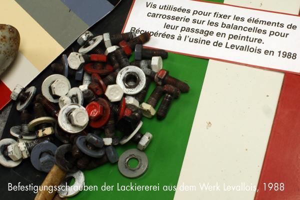 Befestigungsschrauben für 2CV-Karossen aus dem Werk Levallois - garage2cv.de