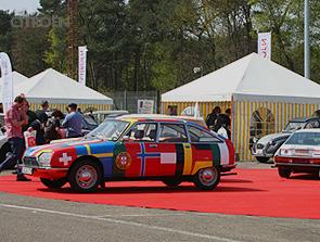 Auto des Jahres 1970 auf rotem Teppich: Citroën GS - Bild: garage2cv.de