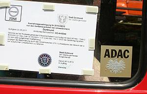 ausnahmegenehmigung der Stadt Dortmund an einem 2CV
