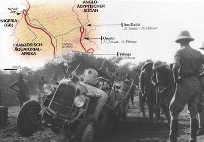 Bild: Ariane Audouin-Dubreuil, Expedition Afrika 1924/1925, Frederking & Thaler Verlag, Montage: garage2cv.de