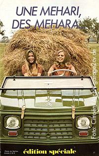 Une Mehari des Meharas: Titelseite der Werkszeitschrift Double Chevron. Foto: Citroën/Archiv garage2cv.de