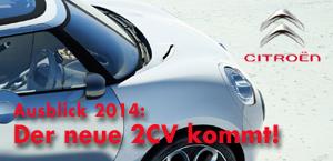Citroën bringt 2014 eine Neuinterpretation der 2CV-Philosophie.