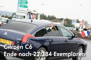 Am Mittwoch, 19. Dezember 2012 endete in Rennes-la-Janais die Produktion des Citroën C6
