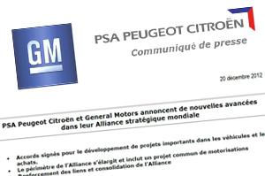 Am 20.12.2012 gaben GM und PSA Peugeot Citroën die Unterzeichnung ihres angekündigten Kooperationsvertrages bekannt.