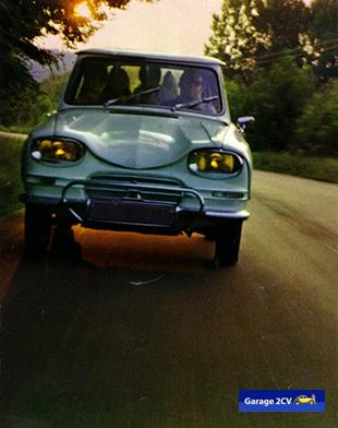 Seine Höchstgeschwindigkeit von über 120 km/h ermöglicht hohe Durchschnitte - aus einer Ami 6-Werbung. Bild: Citroën /Archiv garage2cv.de