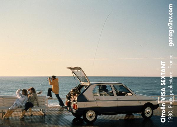 Eines der ersten Sondermodelle auf VISA-Basis heißt SEXTANT und kommt 1980 in einer Auflage von 2.000 Exemplaren. Wie viele davon mögen überlebt haben ? Bild: Citroën / Archiv garage2cv