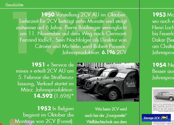 Der 2CV Limousine folgt im Oktober 1950 der Kleinlieferwagen AU. Bild: Citroën 2CV KOMPAKT / garage2cv / 2014