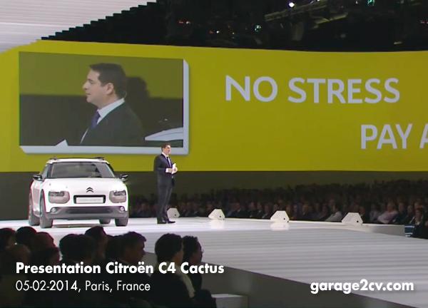 Bei der Präsentation des C4 Cactus erläutert Pierre Monferrini die wesentlichen Punkte des neuen Fahrzeugs. Bild: Citroën / garage2cv.de