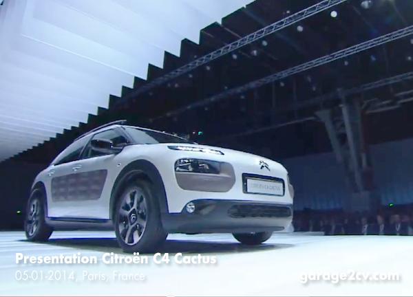 Nah an der Studie und konzeptionell beeindrucken: Serienversion des Citroën C4 Cactus bei der ersten offiziellen Präsentation in Paris.  Bild: Citroën / garage2cv.de