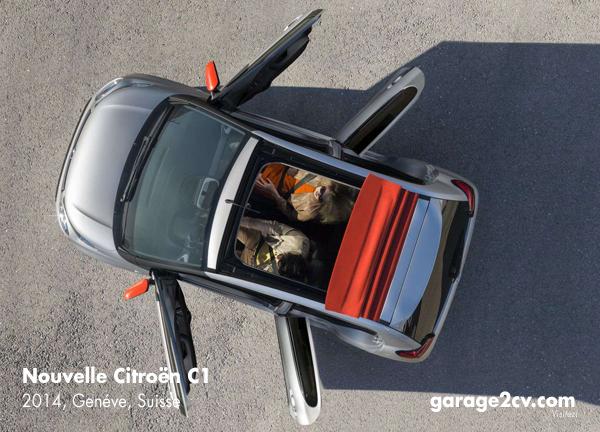 Mit Faltdach trägt der neue Citroën C1 den Namenszusatz Airscape. Bild: Citroën / Archiv garage2cv