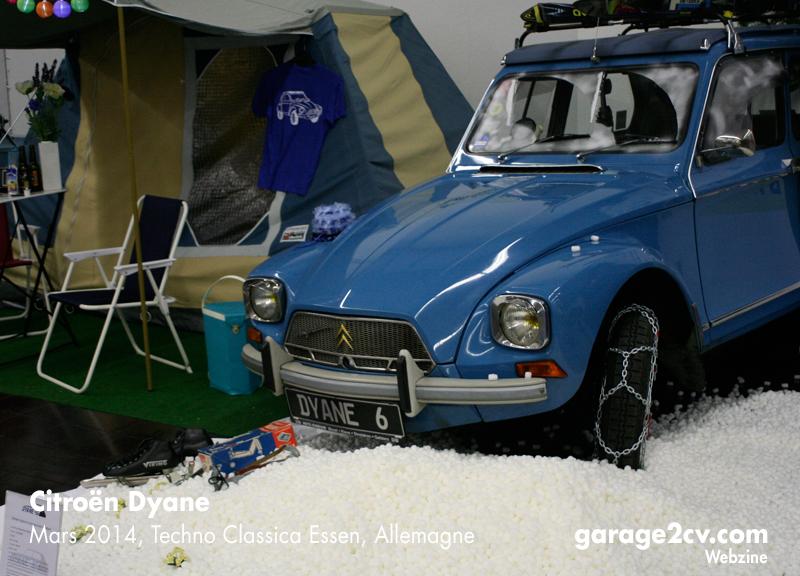 Wintercamping: Gelungene Standinszenierung der Dyane IG auf letztjähriger Techno Classica. Foto: Jan Eggermann