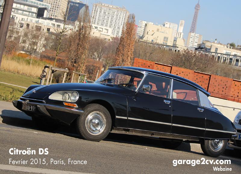 Manchmal noch im Pariser Straßenbild zu entdecken: Citroën DS am ehemaligen Citroënwerk Quai de Javel, Februar 2015. Bild: garage2cv.de