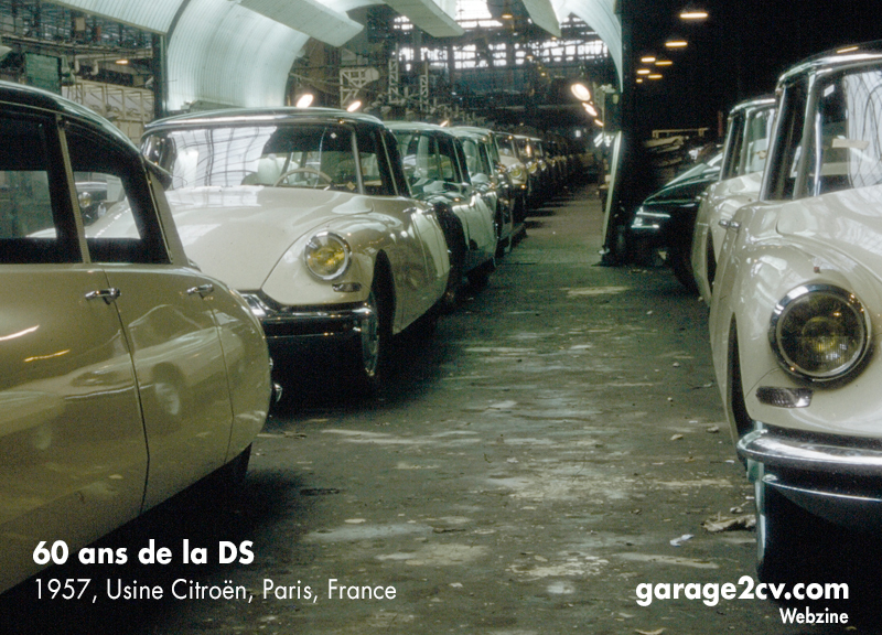 Endkontrolle der Citroën DS 19-Produktion, Werk Quai de Javel, vermutlich 1957. Bild: DS Automobiles / garage2cv.de