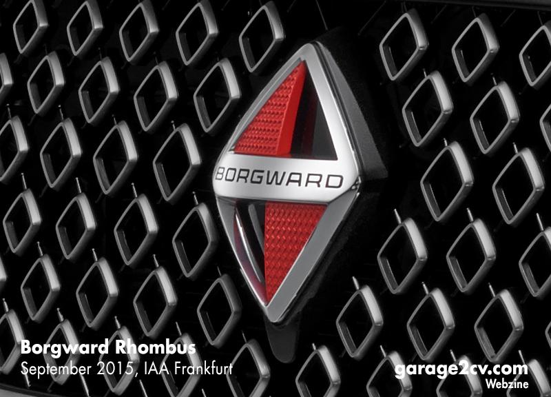 Der Rhombus, das überarbeitete Borgward-Markenzeichen. Bild: Borgward