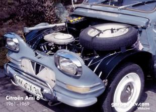 Entblößt man den Ami 6 kommt ein von Konstrukteur Walter Becchia überarbeiteter 2CV-Boxer zum Vorschein, der hier erstmals 600 Kubik Hubraum hat. Später findet er sich auch in der Ente.