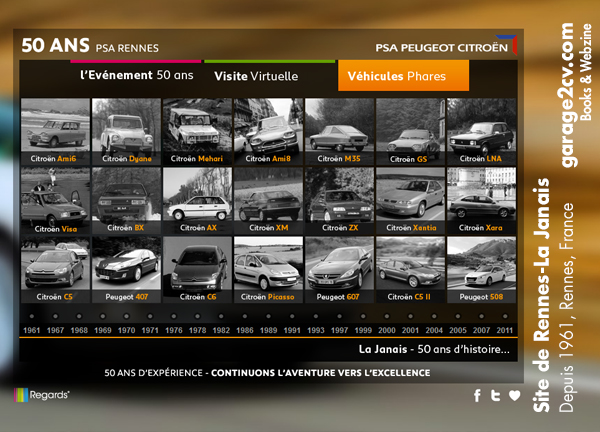 Rennes la Janais alle Citroen und Peugeot Modelle seit 1961