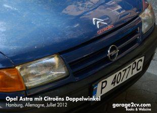 Vorwegnahme: An diesem bulgarischen Opel Astra klebt schon im Sommer 2012 das Citroën-Label.