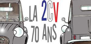 La 2CV 70 ans par Delestre